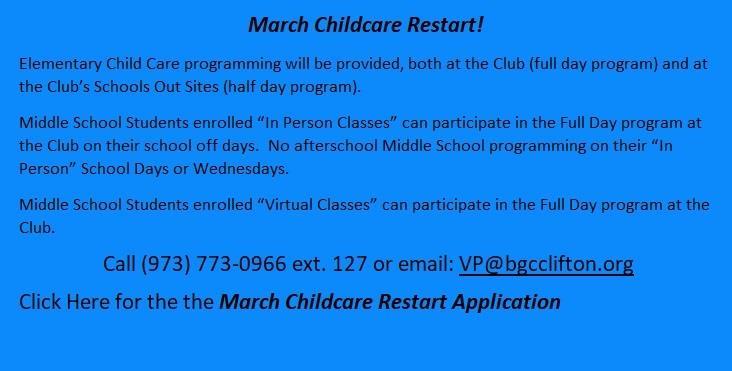 March Childcare Restart