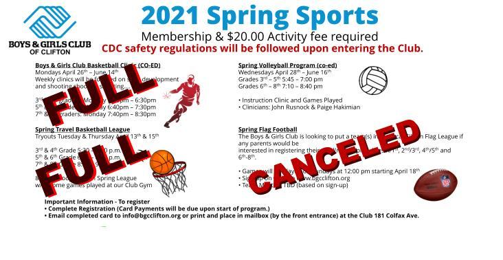 2021 Spring Sports