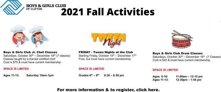 2021 Fall Activities